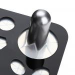 Μαύρη Ορθογώνια Βάση Στήριξης Πινέλων Μακιγιάζ - 3721