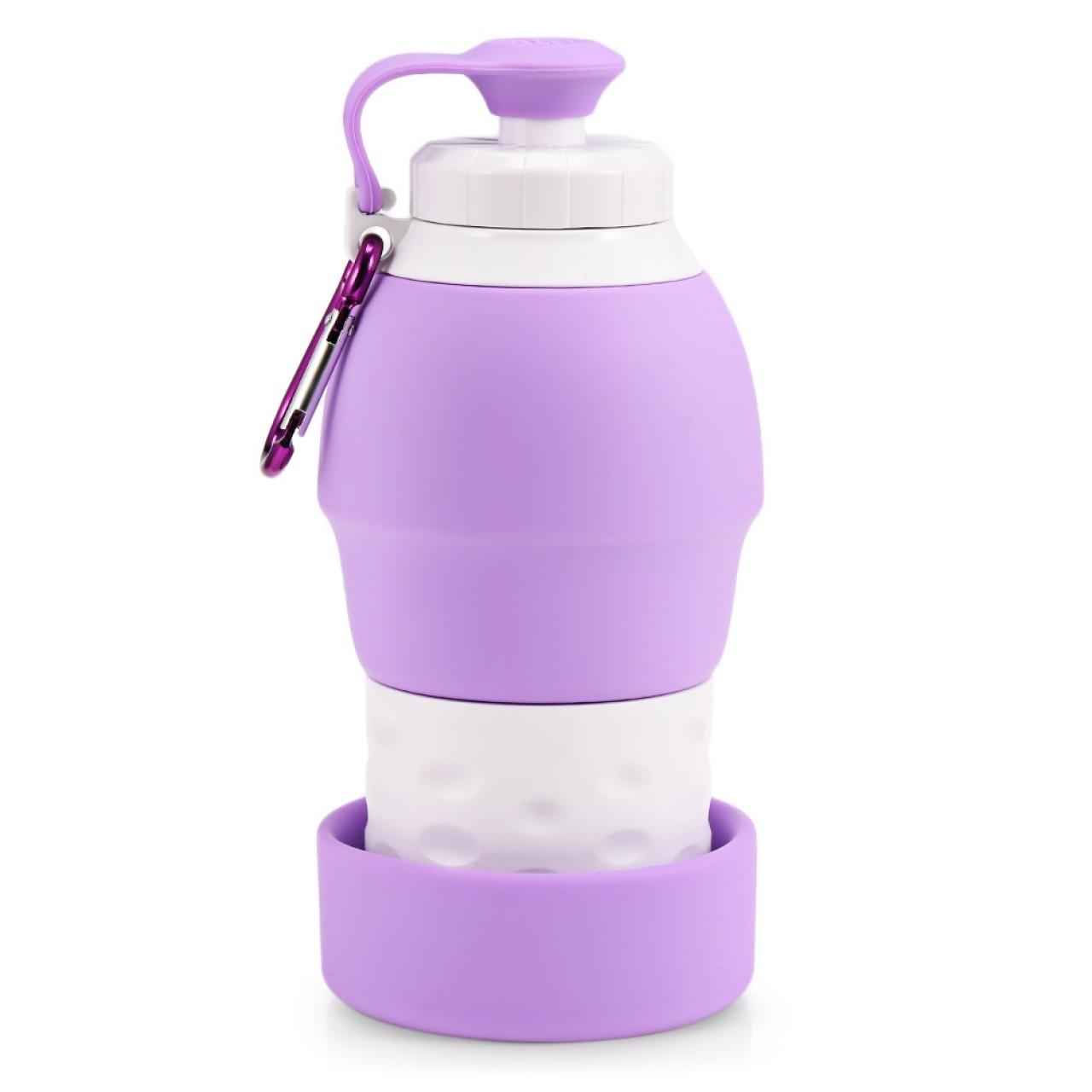 Μωβ Πτυσσόμενο Μπουκάλι Νερού Από Σιλικόνη - 3791