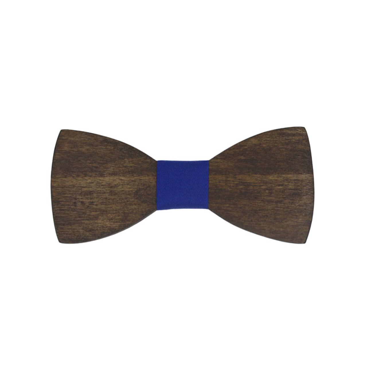 Ξύλινο Παιδικό Παπιγιόν Καρυδιά Με Μπλε Ρουά Κόμπο 2 έως 6 Χρονών - 3943